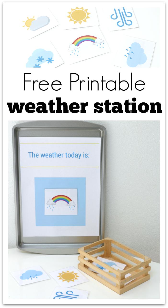 Printable Weather Station For Preschool | Free Printables | Weather - Free Printable Weather Chart For Preschool