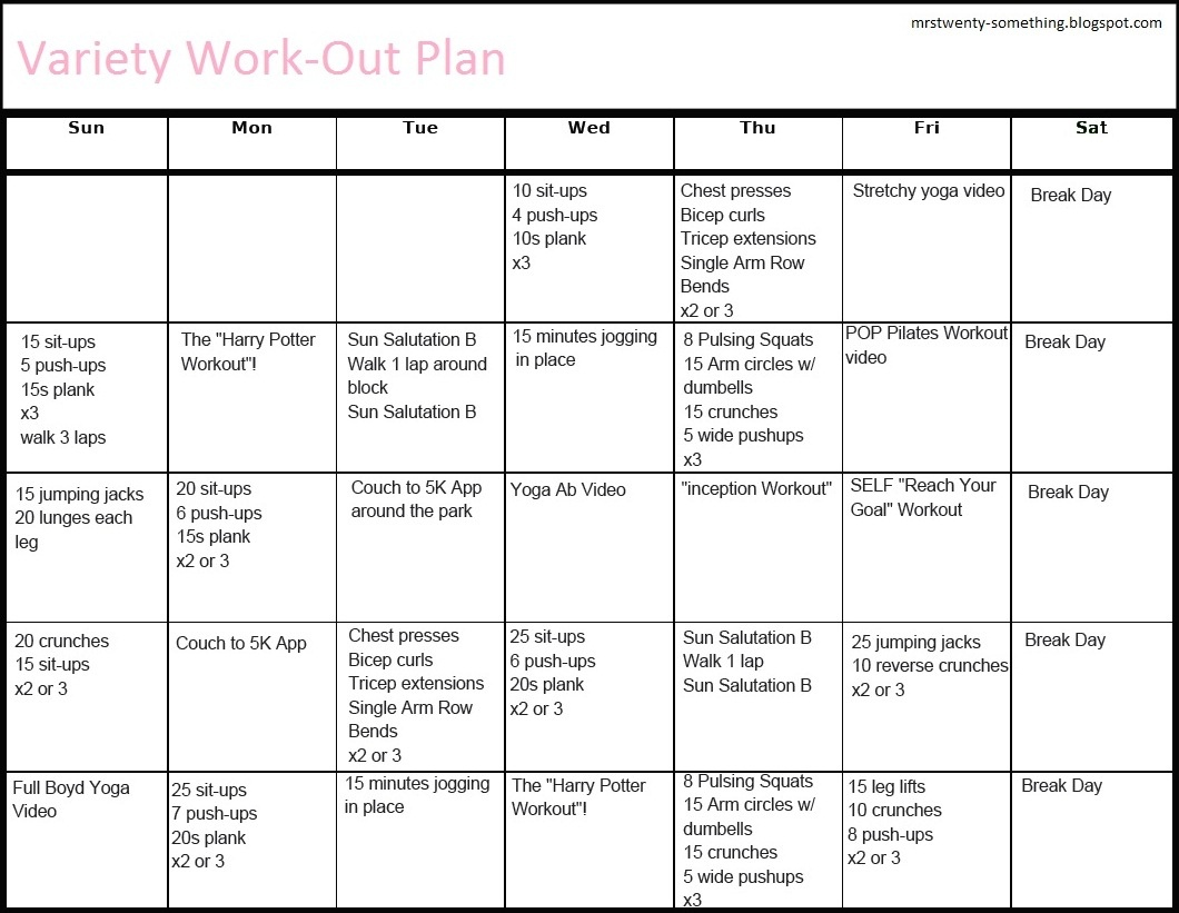 Printable Workout Plans For Men | Hauck Mansion - Free Printable Workout Routines
