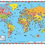 Printable World Map For Kids Incheonfair Throughout For Printable   Free Printable Maps For Kids