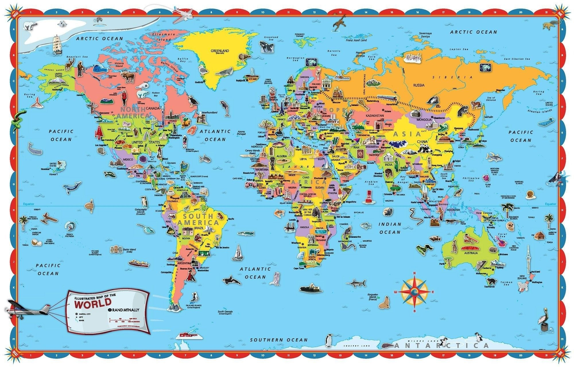 Printable World Map For Kids Incheonfair Throughout For Printable - Free Printable Maps For Kids