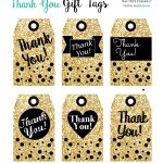 Printables Gift Tags Gold Glitter & Black | I ♥ Packaging Designs   Free Printable Thank You Tags For Birthdays