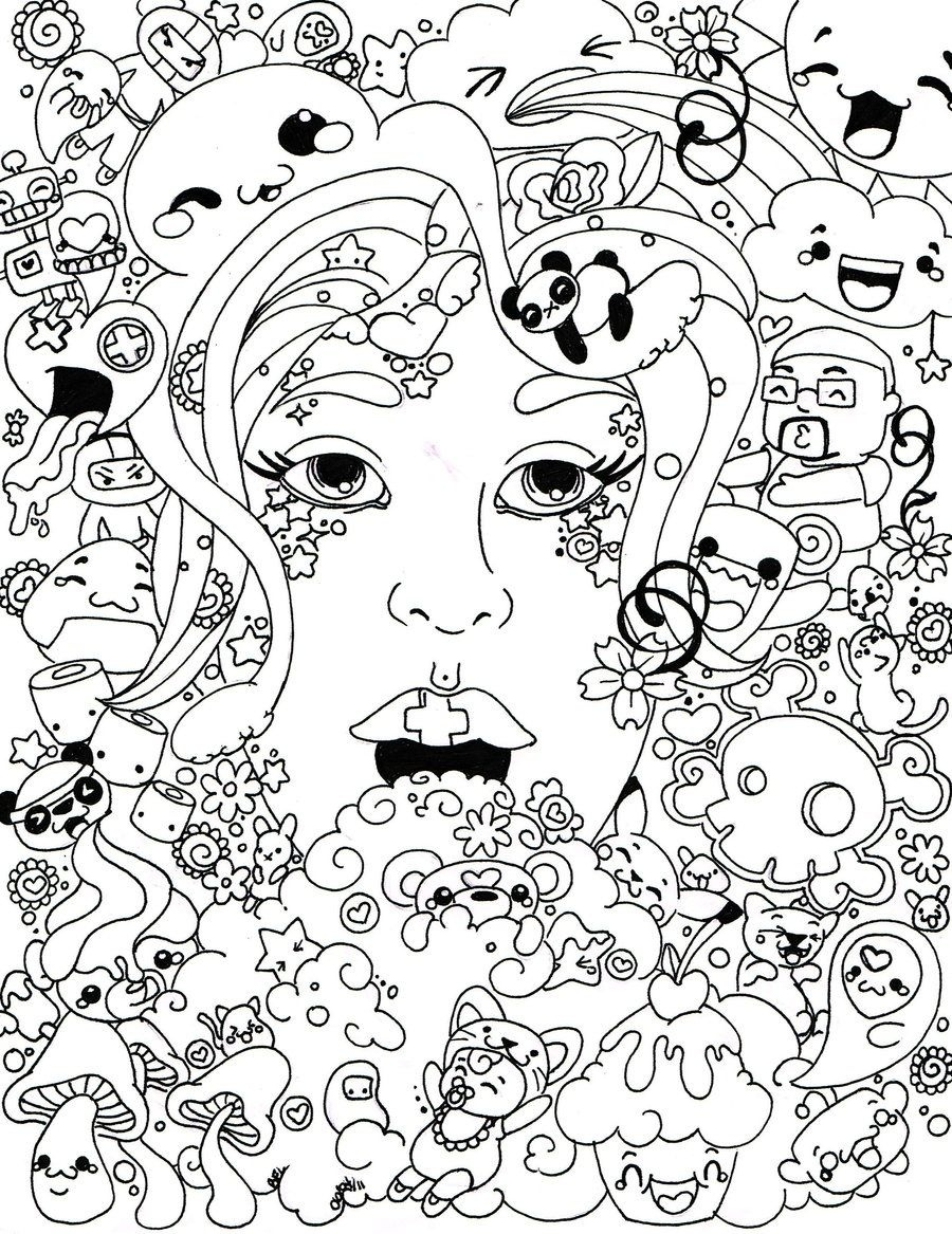 Psychedelic Coloring Pages To Download And Print For Free - Free Printable Trippy Coloring Pages