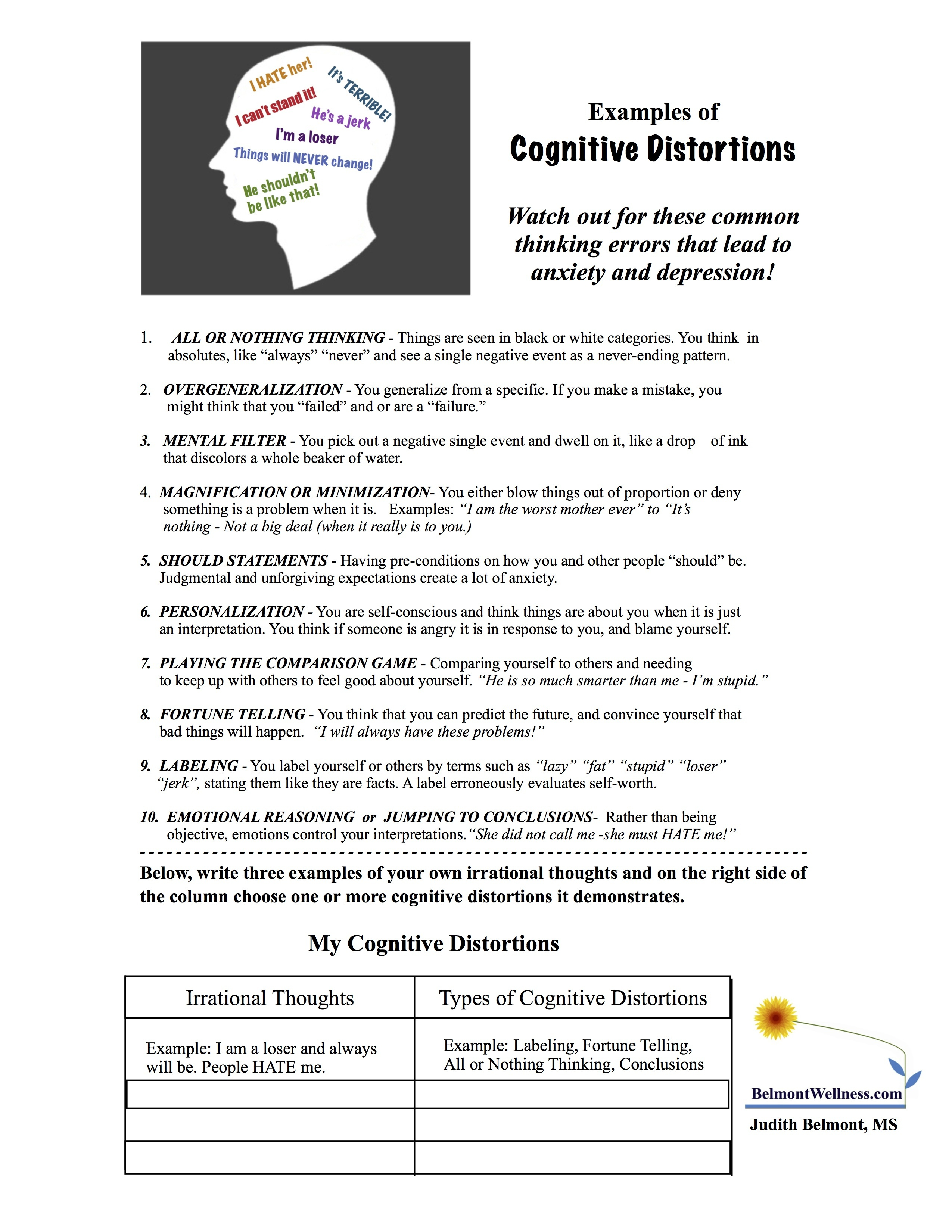 Psychoeducational Handouts, Quizzes And Group Activities | Judy - Free Printable Recovery Games