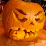 Pumpkin Carving Templates Scary   Free Printable Scary Pumpkin Patterns