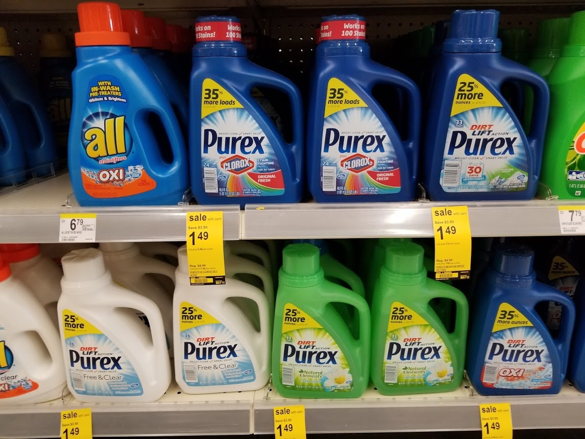 Purex Laundry Detergent For $1.49 With A Printable Coupon At - Free Printable Purex Detergent Coupons
