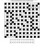 Puzzle Page With Codebreaker (Codeword, Code Cracker) Word Game   Free Printable General Knowledge Crossword Puzzles