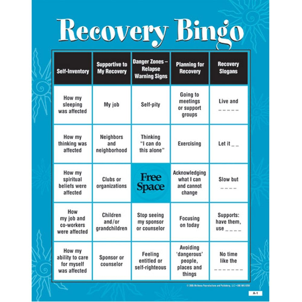 Recovery Bingo! Game For Adults | Addiction & Recovery | Addiction - Free Printable Recovery Games