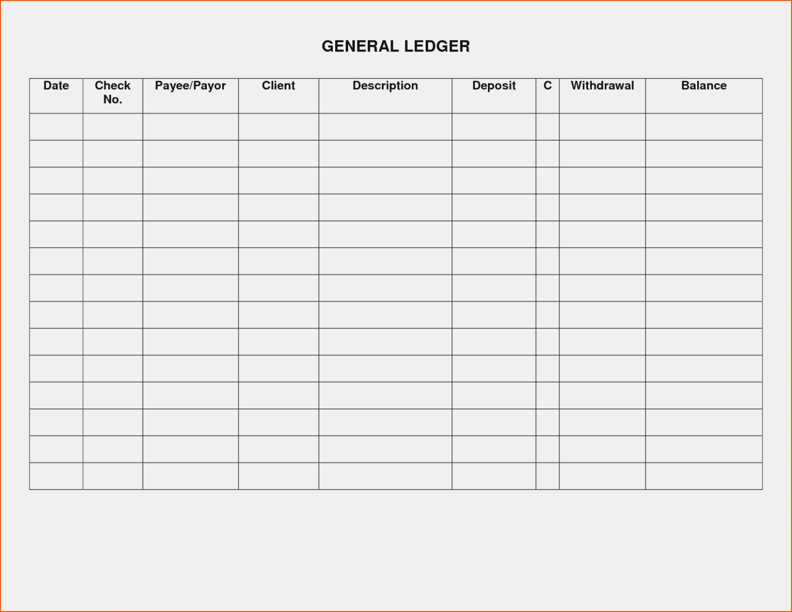 Rental: Free Printables Rental Ledger Template – The Invoice And - Free Printable Rent Ledger