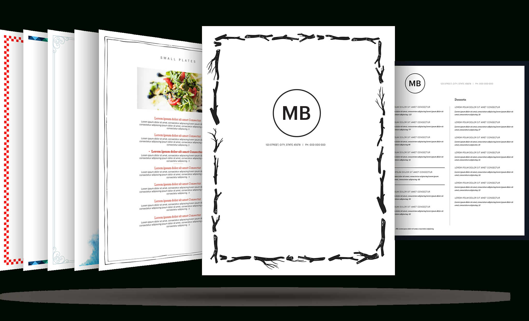 Restaurant Menu Template | Build Your Free Restaurant Menu Maker - Create A Menu Free Printable