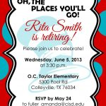 Retirement Party Invitations Free Templates | Fun Stuff | Retirement   Free Printable Retirement Party Invitations