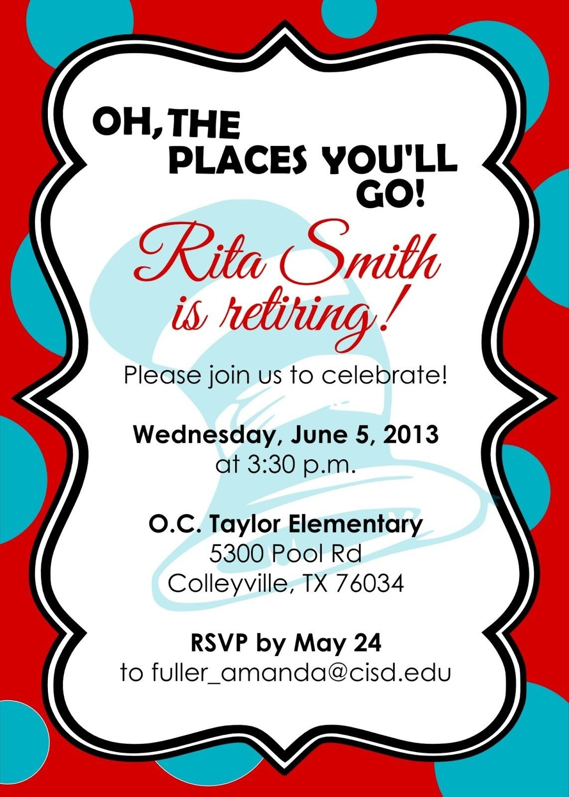 Retirement Party Invitations Free Templates | Fun Stuff | Retirement - Free Printable Retirement Party Invitations