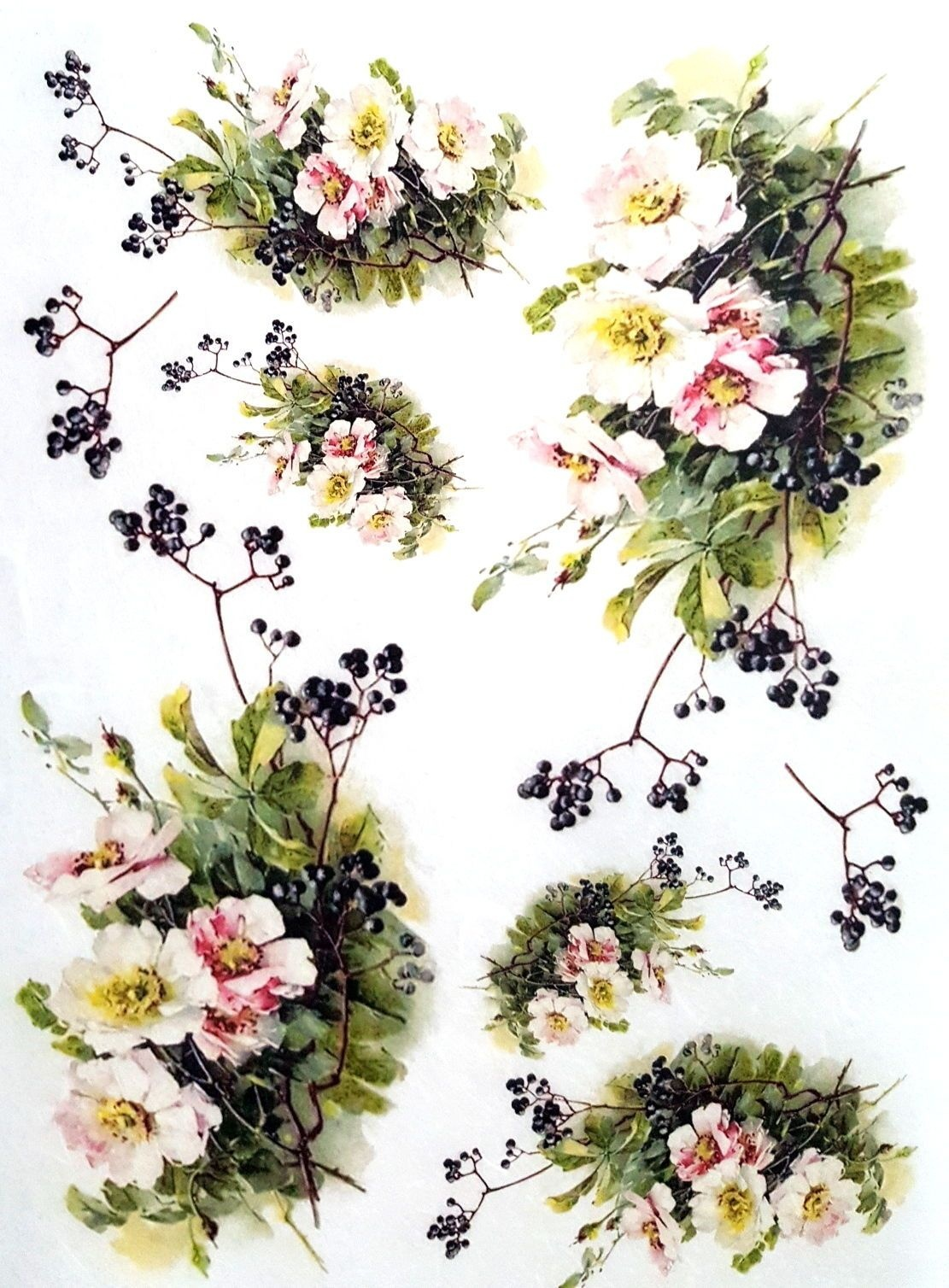 Rice Paper For Decoupage Scrapbooking Sheet Craft Vintage Garden - Free Printable Decoupage Flowers