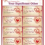 Romantic Love Coupon Template Printable | Love Coupons For Your   Free Printable Love Coupons