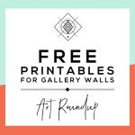Roundup: Free Printables For Gallery Walls • Little Gold Pixel   Free Printable Art