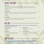 Salon Menu Templates From Imenupro   Free Online Printable Menu Maker