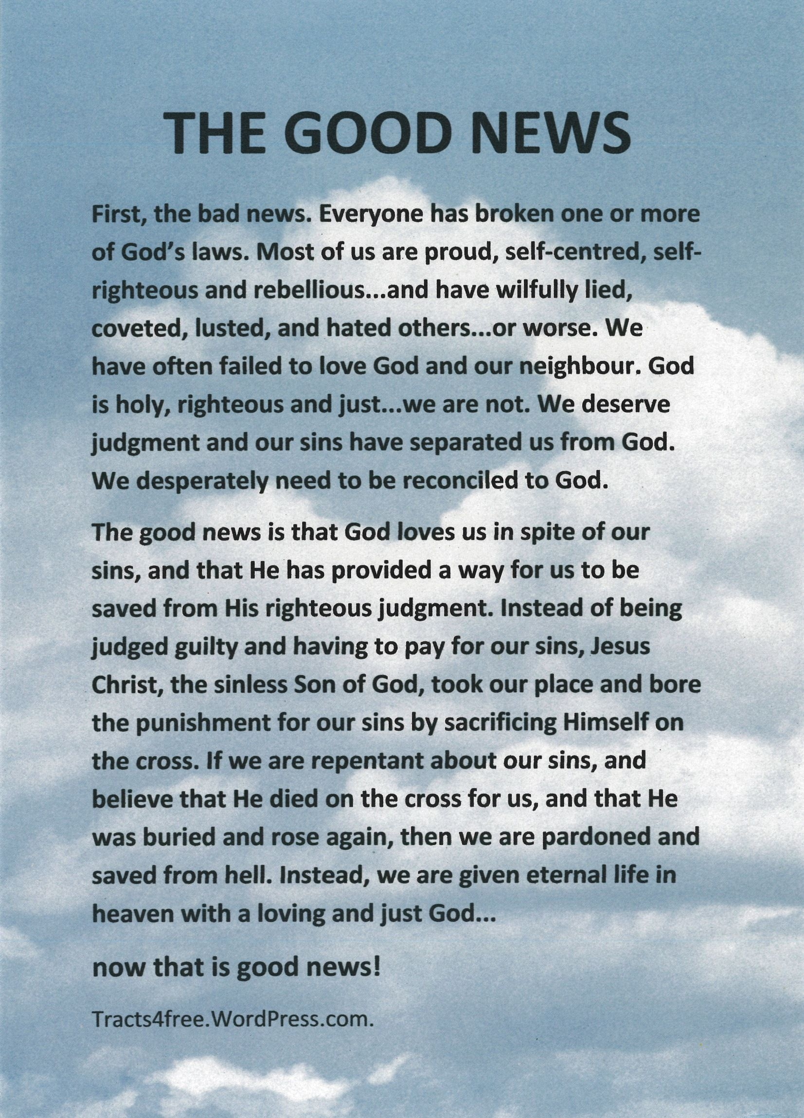 Salvation Tracts Printable - Google Search | The Good News | Good - Free Printable Tracts For Evangelism