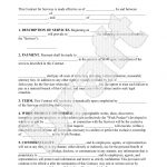 Sample General Contract For Services Form Template | Contracts   Free Printable Service Contract Forms