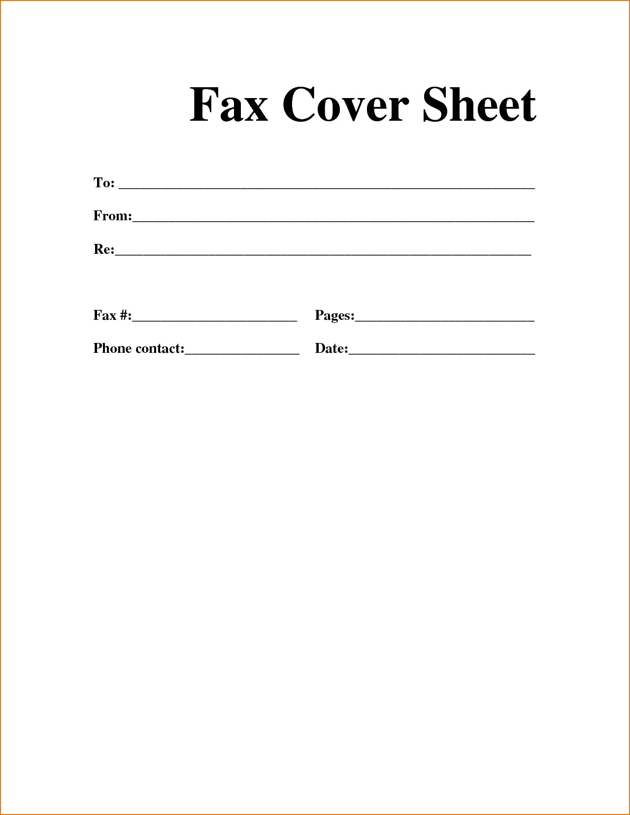 Sample Personal Fax Cover Sheet | Template In 2019 | Cover Sheet - Free Printable Fax Cover Page