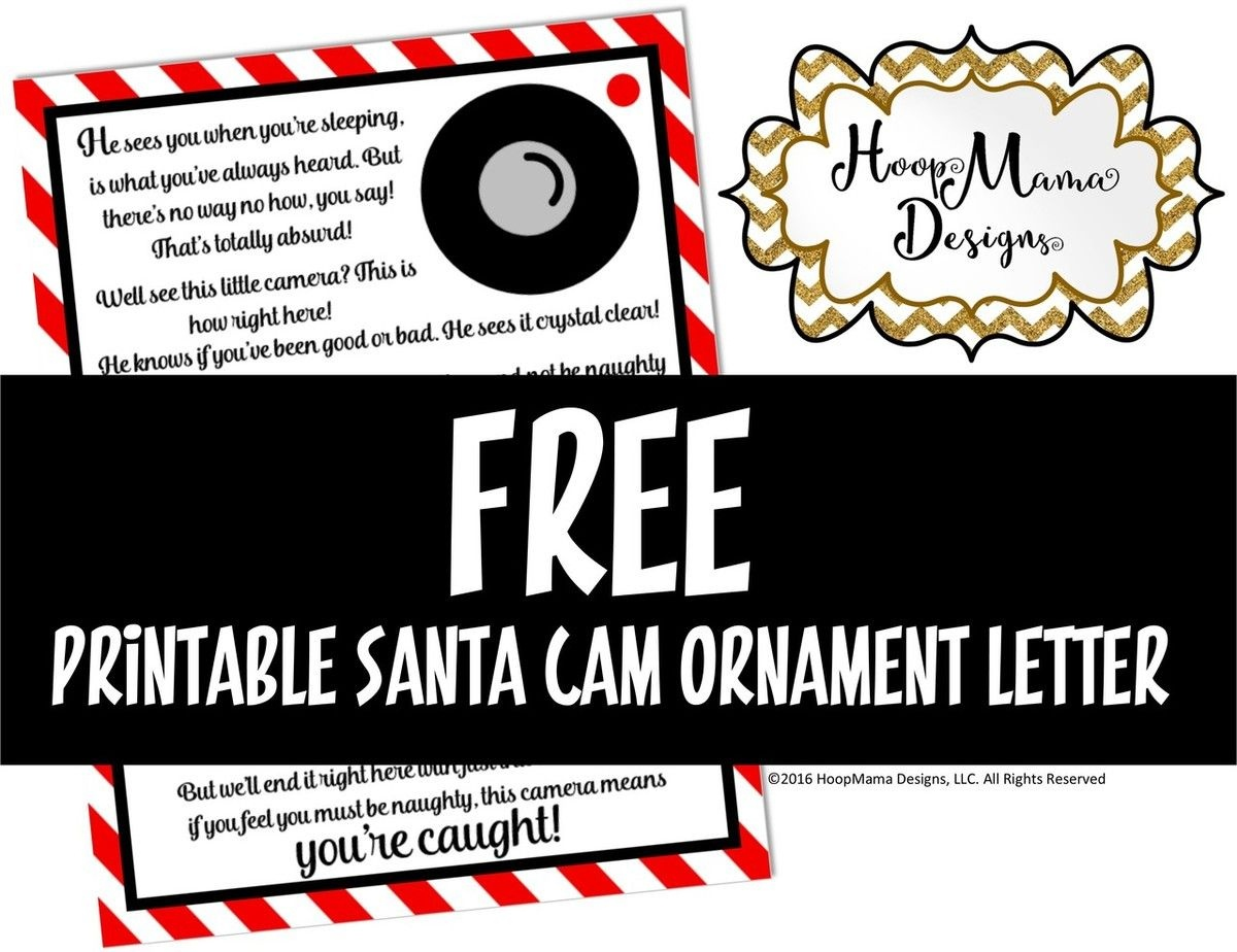 Santa Camera Letter Printable Download | Silhouette Cameo Tutorials - Free Printable Smile Your On Camera