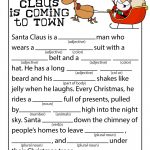 Santa Claus Is Coming To Town Mad Libs | Grandkids | Christmas   Christmas Mad Libs Printable Free