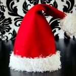 Santa Hat How To With Free Pattern And Video Tutorial   Free Printable Santa Hat Patterns