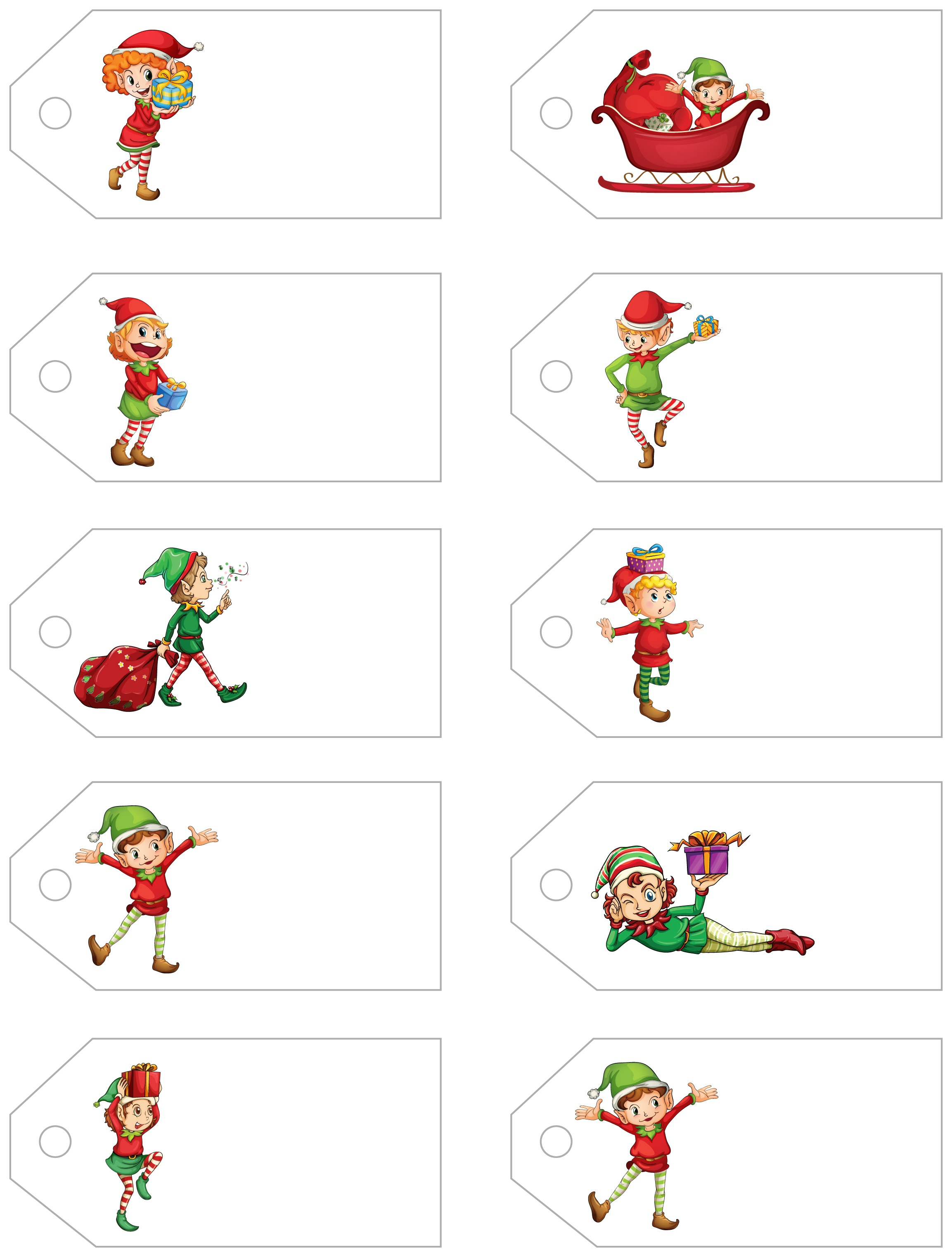 Santa's Little Gift To You! Free Printable Gift Tags And Labels - Free Printable Christmas Labels