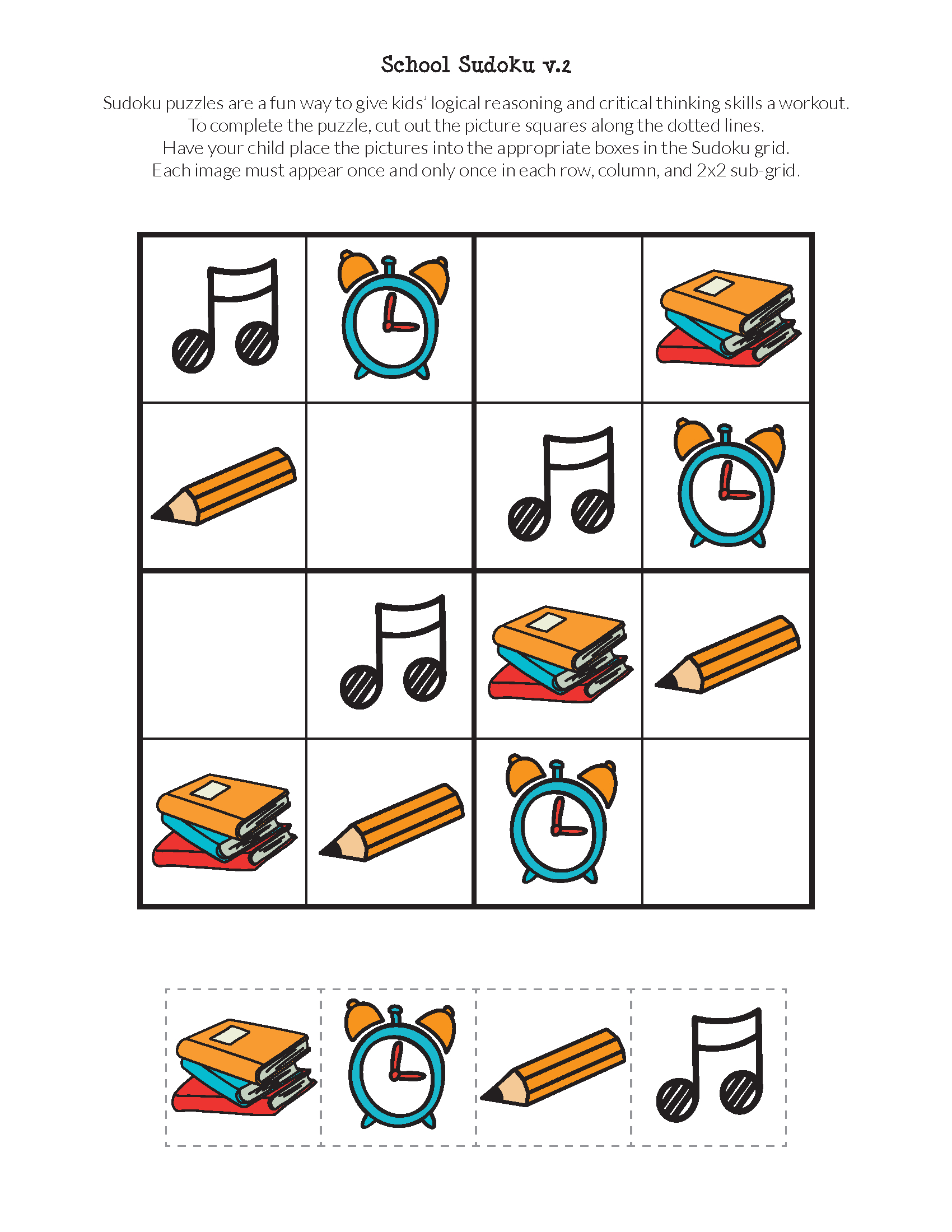 School Sudoku Puzzles {Free Printables}   Skool   Sudoku Puzzles - Free Printable Critical Thinking Puzzles