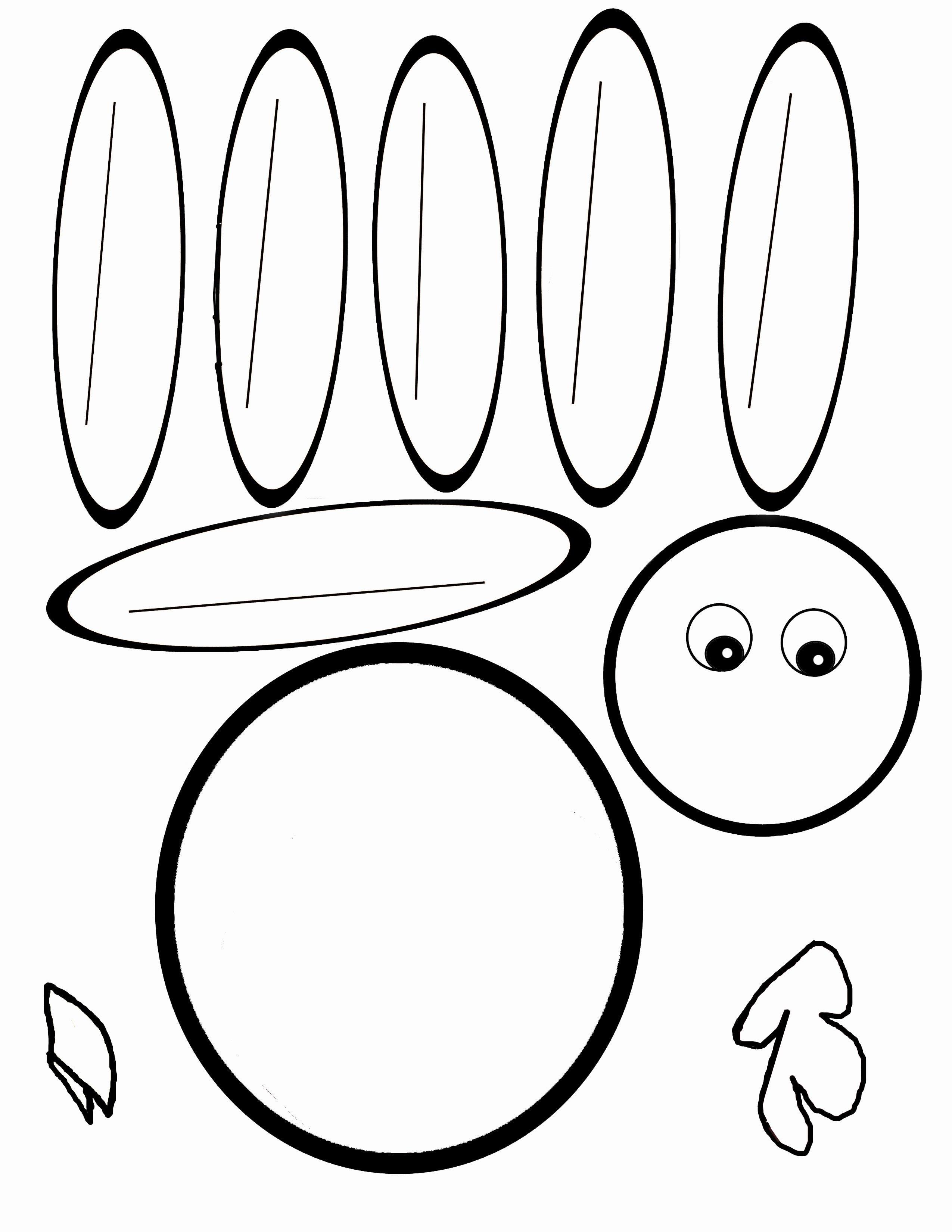 Scissor Cutting Turkey Template | Pediatric Ot | Turkey Template - Free Printable Thanksgiving Turkey Template