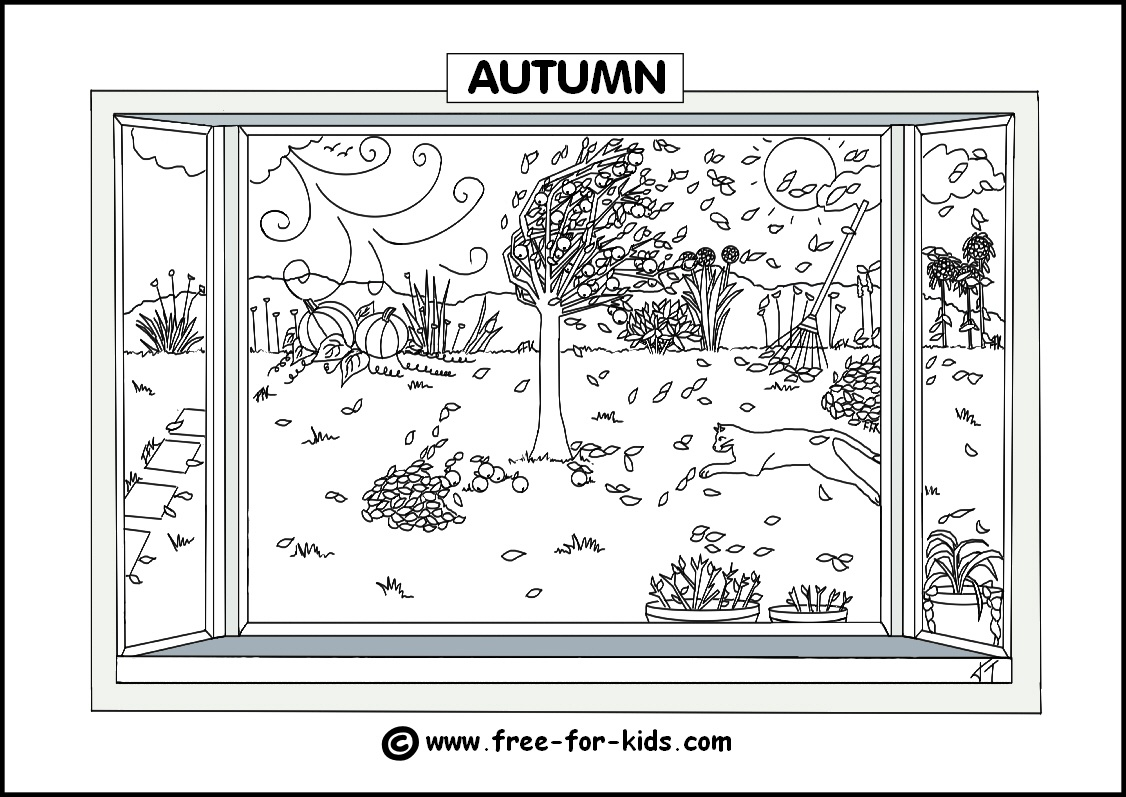 Seasons Colouring Pages - Free Printable Pictures Of The Four Seasons