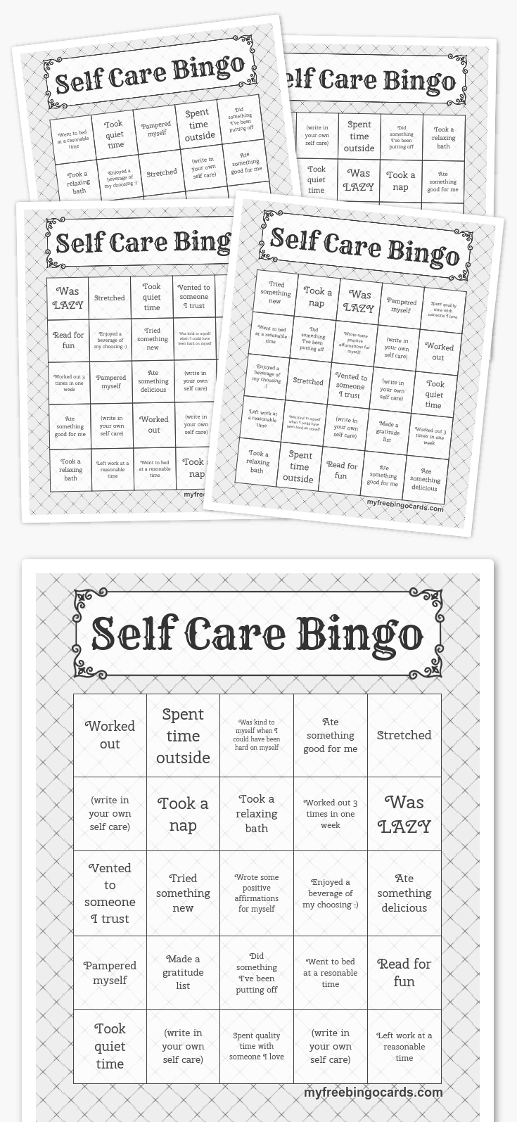 Self Care Bingo So Excited To Roll This Out To My Staff!!! #teachers - Free Printable Self Esteem Bingo