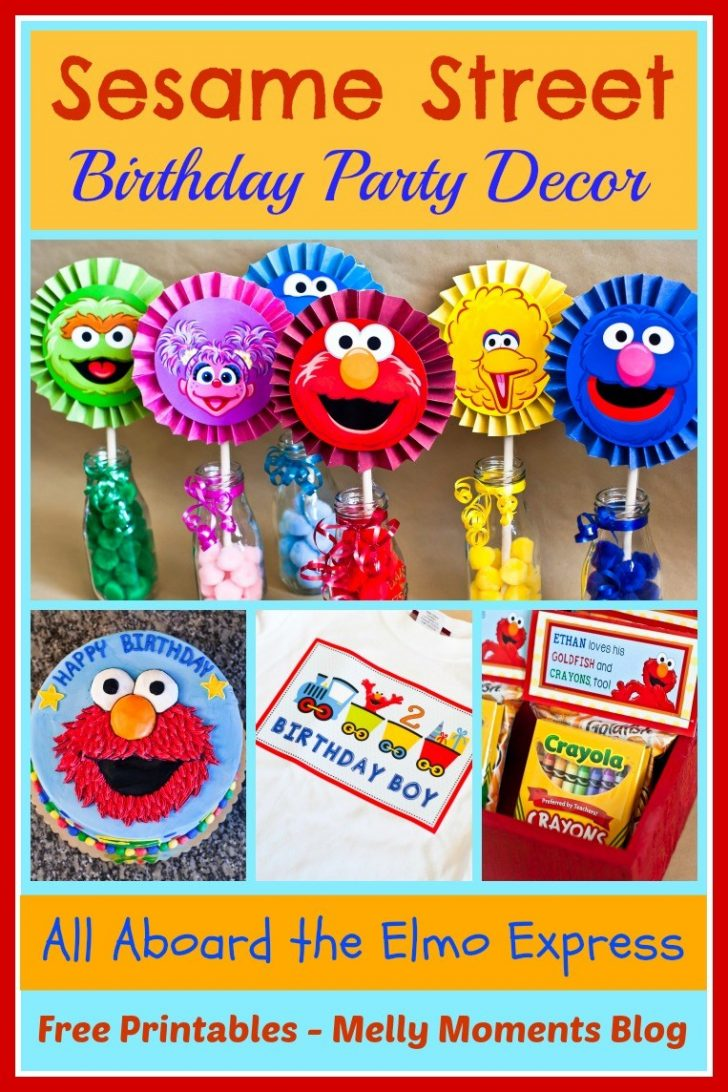 Free Printable Sesame Street Cupcake Toppers