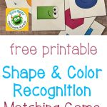 Shape And Color Recognition Matching Game Free Printable   Free Printable Matching Cards