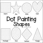 Shapes Dot Painting {Free Printable} | Anger Management | Dot   Free Printable Fine Motor Skills Worksheets