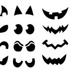 Shapes For Ghost Eye Cutouts | After The Face Is Picked Out Cut Out   Free Printable Scary Pumpkin Patterns