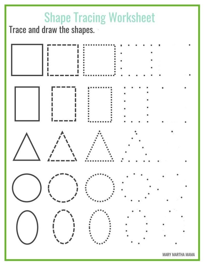 Shapes Worksheets For Preschool [Free Printables] – Mary Martha Mama - Free Printable Shapes Worksheets