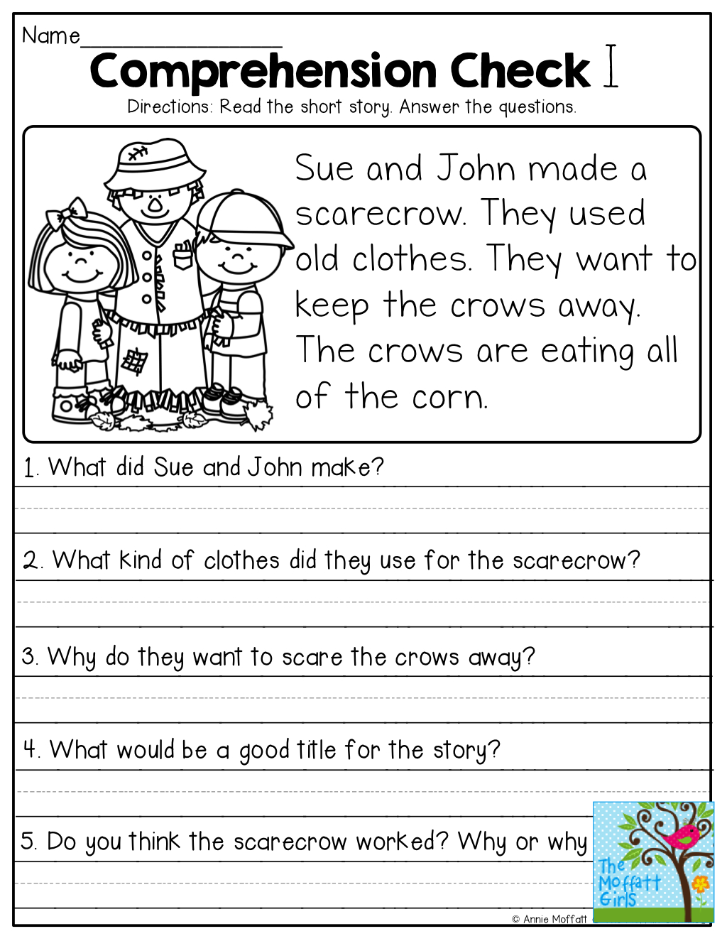 Short Stories With Comprehension Questions!   Jassiah   First Grade - Free Printable Short Stories With Comprehension Questions