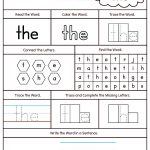 Sight Word The Printable Worksheet | Myteachingstation   Free Printable Sight Word Worksheets