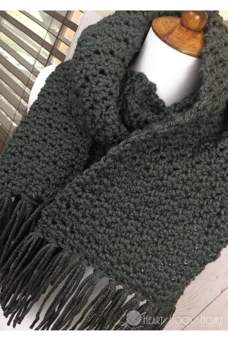 Simple Scarf For Men Free Crochet Pattern | Crochet | Crochet Mens - Free Printable Crochet Scarf Patterns
