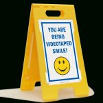 Smile You're On Camera Signs   You Are Being Video Taped   Free Printable Smile Your On Camera