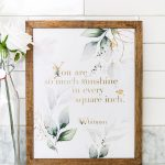 So Much Sunshine Printable Wall Art   Maison De Pax   Free Printable Wall Art Quotes