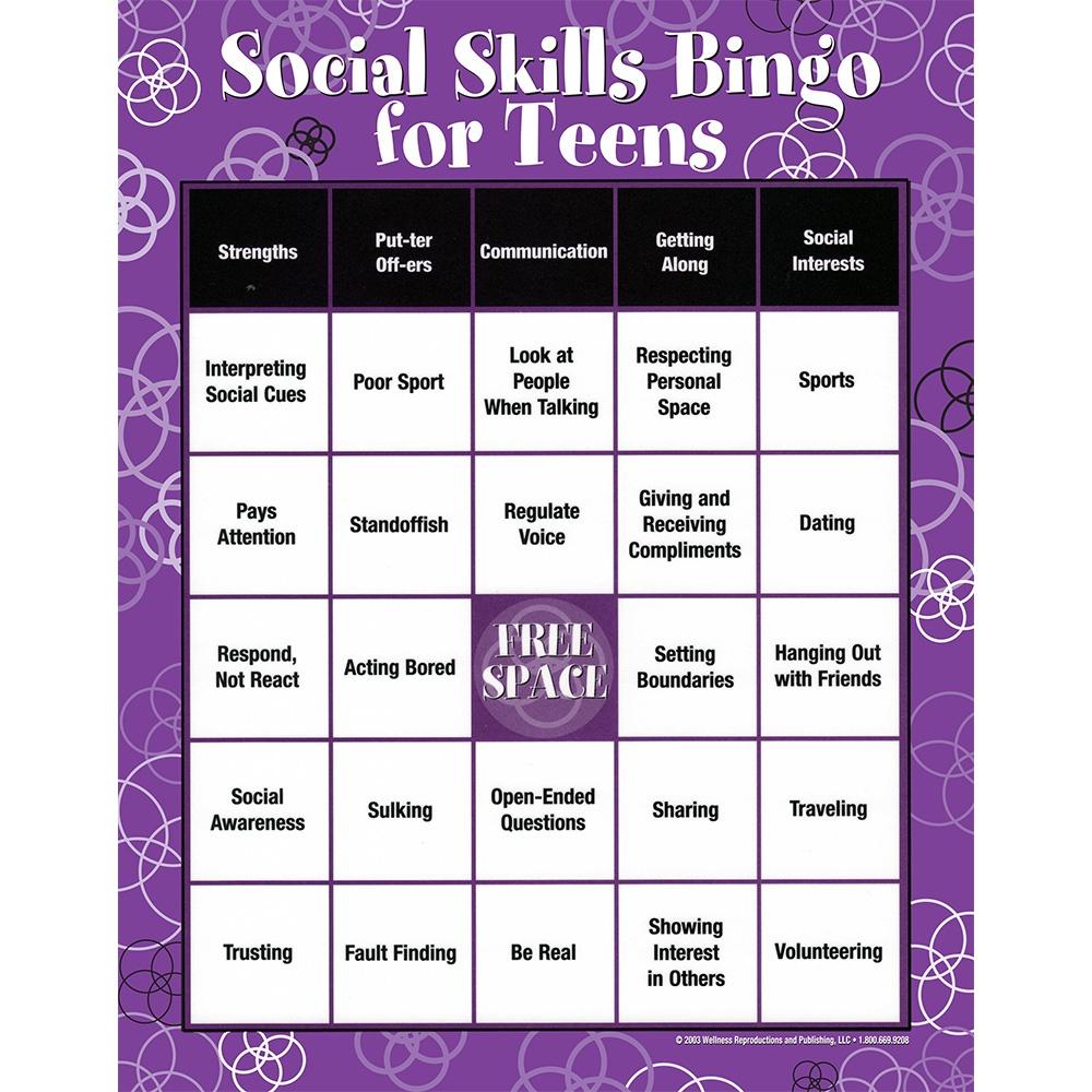 Social Skills|Characteristics|Communication|Teens|Bingo Game - Free Printable Self Esteem Bingo