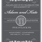 Sophisticated Engagement Party Free Printable Invitation   Free Printable Engagement Invitations