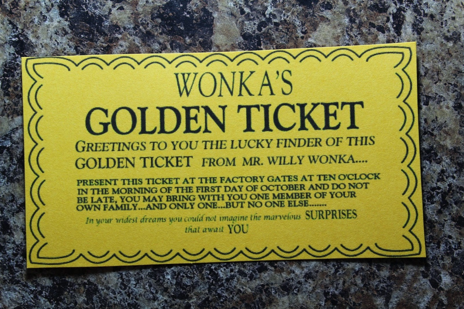 Spark And All: Charlie And The Chocolate Factory - Wonka Bar Wrapper Printable Free