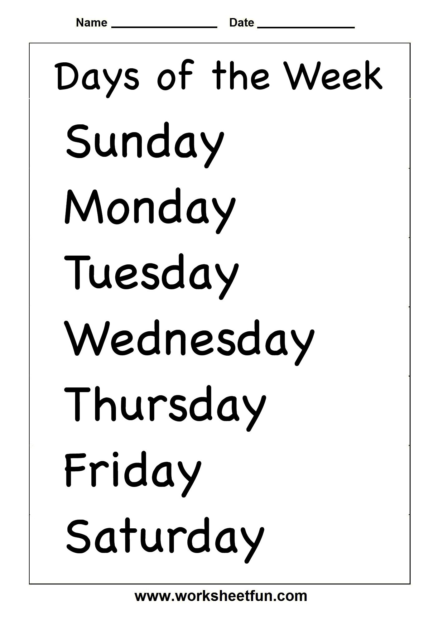Spelling – Days Of The Week / Free Printable Worksheets – Worksheetfun - Free Printable Days Of The Week