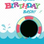Splish Splash   Free Printable Summer Party Invitation Template   Free Printable Pool Party Birthday Invitations