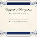 Sports Cetificate | Certificate Of Recognition A4 Thumbnail   Free Printable Certificate Templates