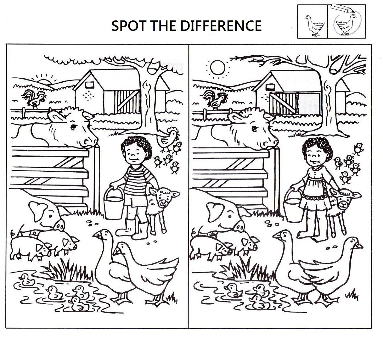 Spot The Difference Worksheets For Kids | Activity Shelter - Free Printable Spot The Difference For Kids