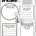 Spring Activities Freebie | Spring Writing Freebie |Spring Freebie   Free Printable March Activities