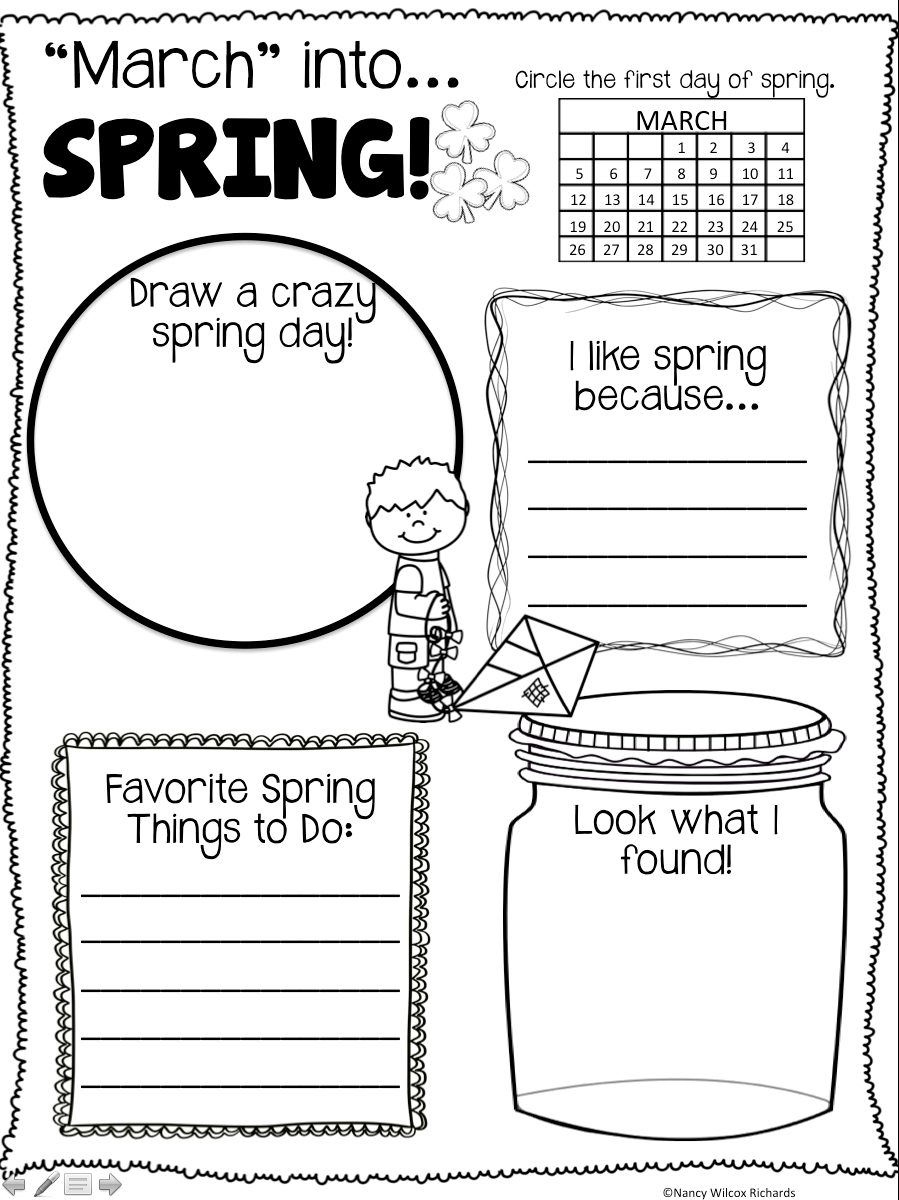 Spring Activities Freebie | Spring Writing Freebie |Spring Freebie - Free Printable March Activities