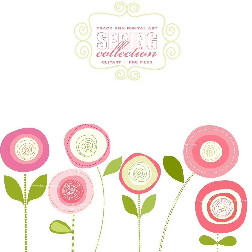 Spring Flowers Clip Art Free Printable 7 - Cliparting - Free Printable Clip Art